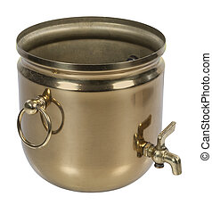 Brass Bucket with Spigot - Brass bucket with spigot for...