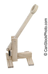 Wooden Catapult - A wooden catapult used to hurdle objects...