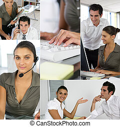 Montage of two office workers