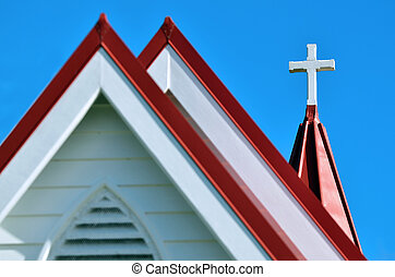 Anglican Church - A cross on top of an Anglican Church.