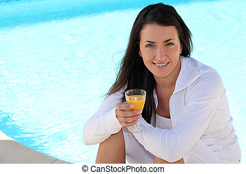 Drink at the poolside