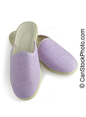 Purple slippers