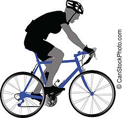biker - vector - illustration of biker - vector