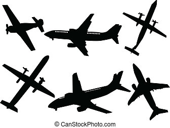 airplane - vector - illustration of airplanes - vector