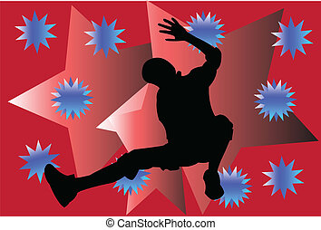breakdance with background - vector - illustration of...