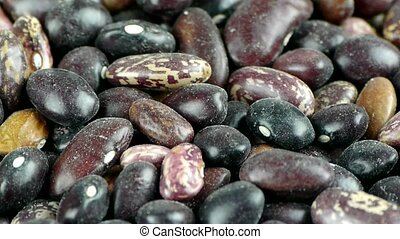 many black beans & flower beans,grain food.