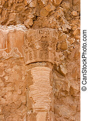 Antique palace - A column on excavation of a palace of tsar...