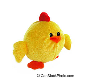 Chicken shaped bath sponge