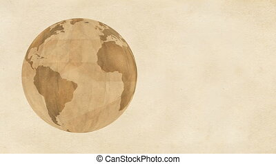 Brown Paper Globe - Animation of Planet Earth, made of brown...