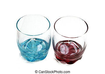 Colorful glass goblets