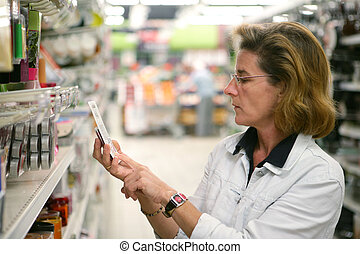 Woman in a supermarket