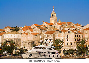 Korcula, Croatia - Town of Korcula, situated on the Island...