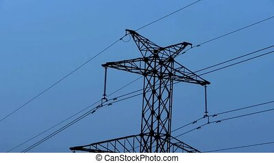 High-voltage wire tower.