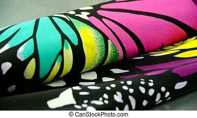 silk fabric,butterfly pattern.