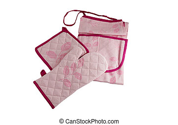 Oven glove and apron set