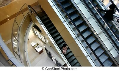 Escalator in Shopping mall.
