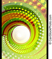 Green swirl vector abstract background