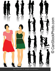 Office people silhouettes. Vector