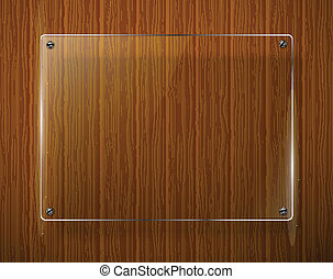 Wooden texture with glass framework Vector illustration