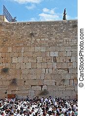 Jerusalem in Sukkot - Jerusalem - October 16: The Holy...