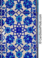 feito à mão, azul, azulejo