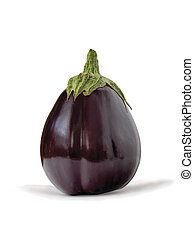 Aubergine, bringal or egg plant - Whole fresh purple...