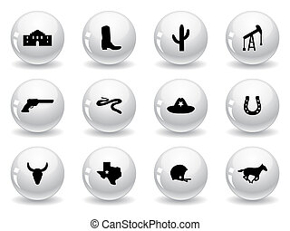 Web buttons, Texas icons