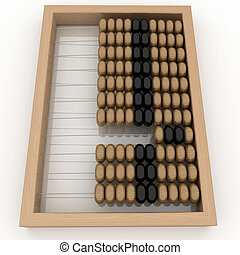 Abacus on a white background