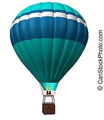 hot air balloon isolated on a white background