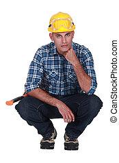 craftsman posing