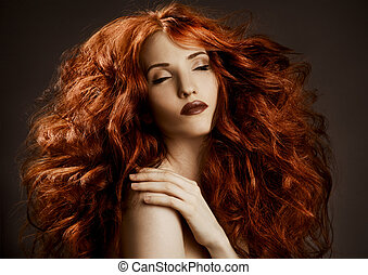 Beauty Portrait Curly Long Hair - Beauty Portrait Curly Long...