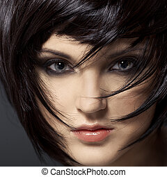 Beautiful Brunette GirlHealthy HairHairstyle