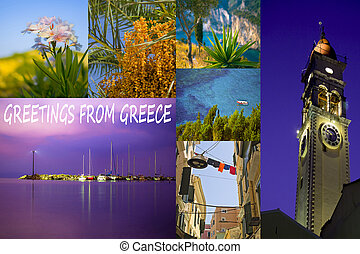 Collage of Greece corfu travel