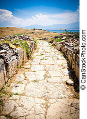 pedra, estrada