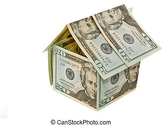 dollar paper home - real estate concept