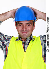 Relaxed construction worker