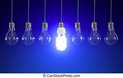 Energy saving light bulb - Energy saving and simple light...
