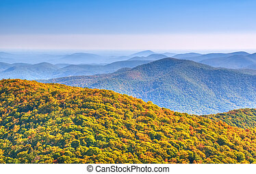 North Georgia mountains - Panoramic view from Brasstown Bald...