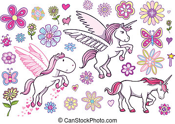Unicorn Pegasus Fairytale set - Unicorn Pegasus Fairytale...