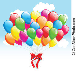 Party balloons. Vector illustration background