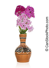 Bouquet decorative flower - The vintage antique vase and...