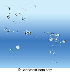 Abstract blue gradient background with bubbles