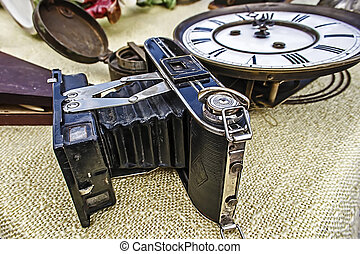 Old photo camera 2 - Old photo camera Antiques Fair in...