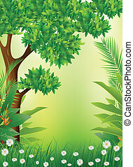 tropical forest background - vector illustratin of tropical...
