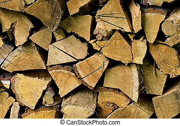 Wood for fire place - Stored hard wood cuted for fire place