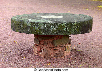 Old stone table - A old stone table, in the castle ruin in...