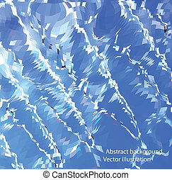 Blue Icicles. Vector mosaic background
