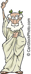Philosopher - The Greek philosopher on a white background...