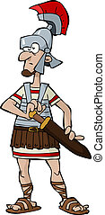 Roman Legionnaire - Legionnaire on a white background vector...