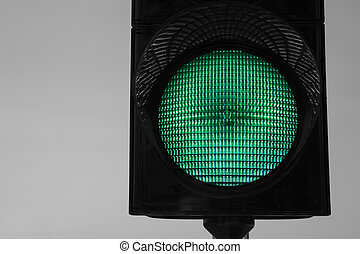 Trafficlight which warning car drivers about to stop